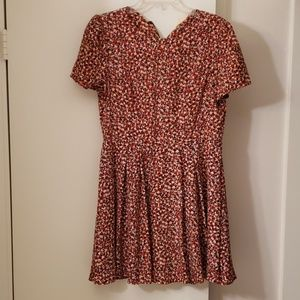 One Clothing Red Floral Capped Sleeve Dress